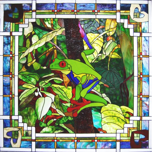 Visit the Grotto of Hope, the stained glass chapel which will feature 36 stained glass windows